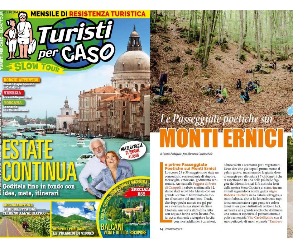 """Sulla rivista """"Turisti per CASO""""…"""